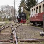 Selketalbahn: Rangieren im Bahnhof Hasselfelde
