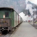 Zittauer Schmalspurbahn: Ankunft im Bahnhof Oybin