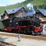 Zittauer Schmalspurbahn im Bahnhof Oybin