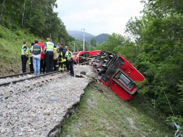 Unglück Glacier Express - Unfall 2010 bei Fiesch