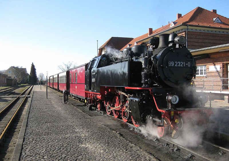 Molli-Bahn in Kühlungsborn Ost