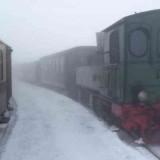 Brockenbahn im Winter - Mallet-Dampflok