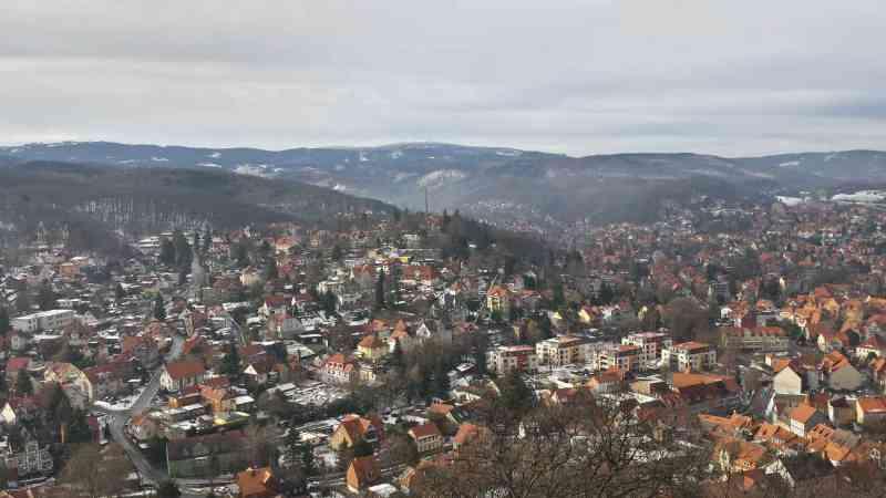 Wernigerode Schloss - Blick auf Brocken