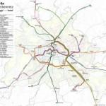 BVG-Linienverlauf S+U-Bahn Berlin