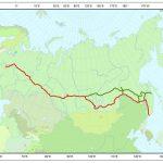 Transsibirische Eisenbahn Streckenverlauf-Route