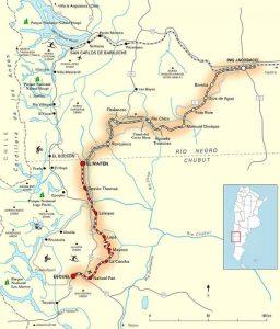 Patagonien-Express La Trochita - Streckenverlauf