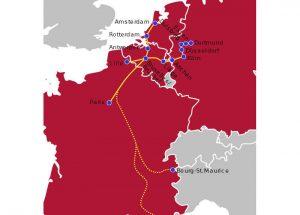 Thalys - Streckennetz und Verbindungen