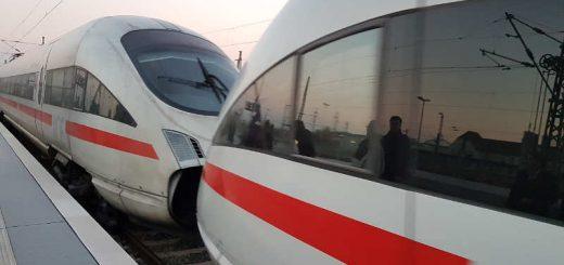 Deutsche Bahn - ICE im Bahnhof Leipzig