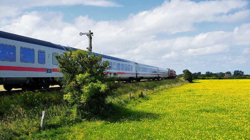 Anreise nach Sylt per IC der Deutschen Bahn