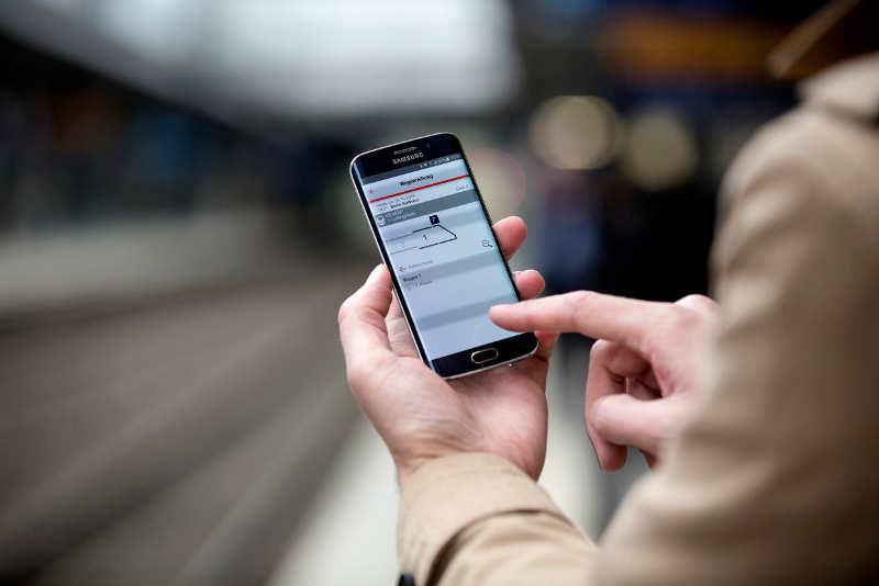 Aktuelle Wagenreihung in der Bahn-App DB Navigator