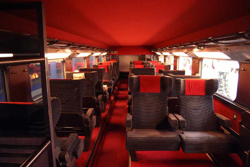 TGV - Erste Klasse im TGV Duplex