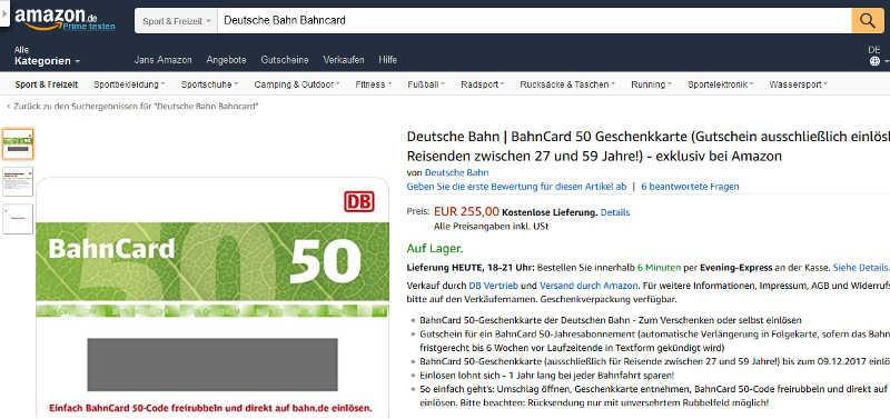 Amazon-BahnCard