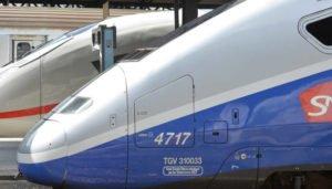 Paris: ICE 3 Baureihe 407 der DB und SNCF TGV im deutsch-französischen Hochgeschwindigkeitsverkehr unterwegs