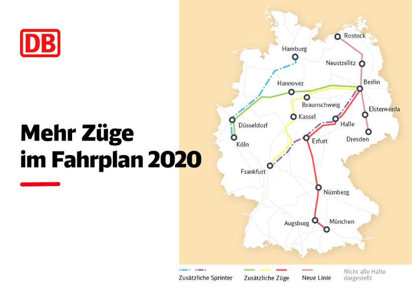 Deutsche Bahn - Änderungen DB Fahrplan 2020