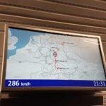 Bahnstrecke Berlin-München - Geschwindigkeitsanzeige