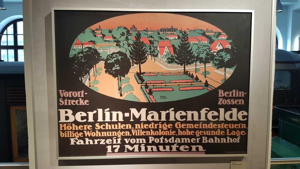 DB Museum Nürnberg - Eisenbahngeschichte - Plakat Berlin
