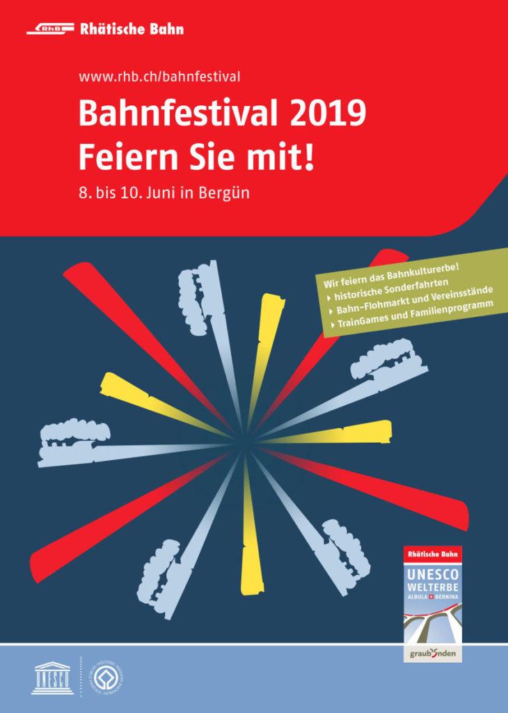 RhB Bahnfestival 2019 - Flyer
