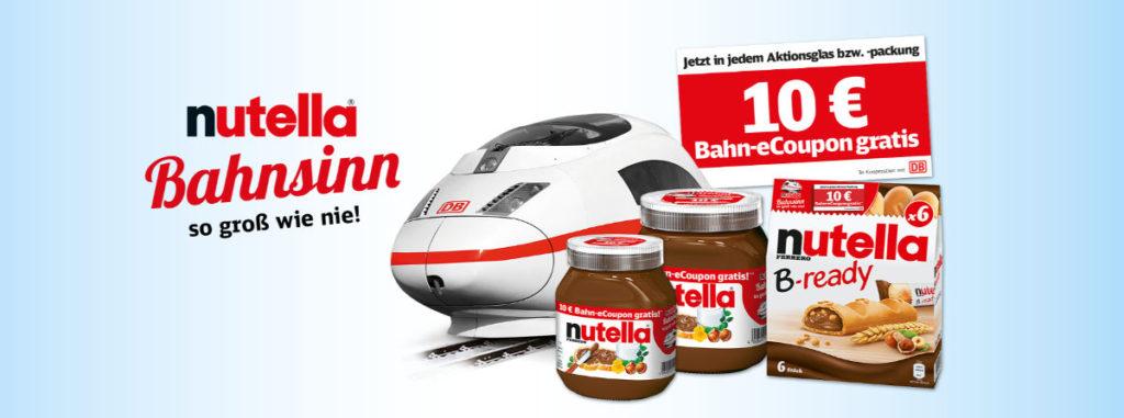 Nutella Bahn-Gutschein Bahnsinn 2019