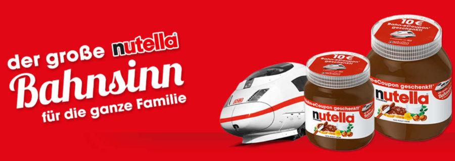 Nutella Bahn Gutschein Bahnsinn