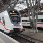 IC und ICE der DB im Bahnhof Leipzig