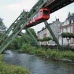 Schwebebahn Wuppertal über Wasser
