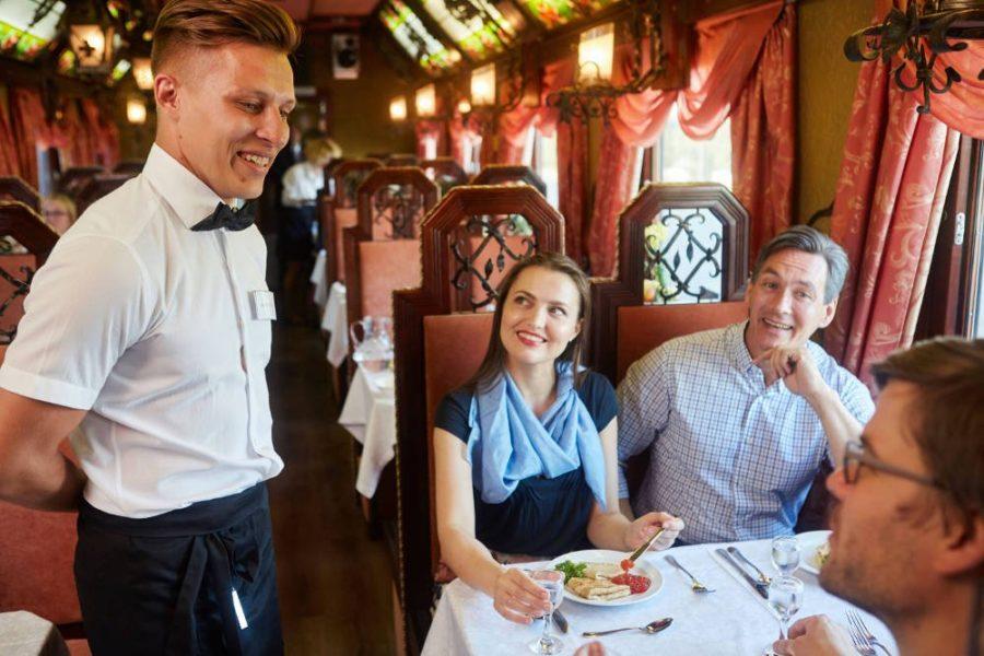 Transsibirische Eisenbahn - Speisewagen