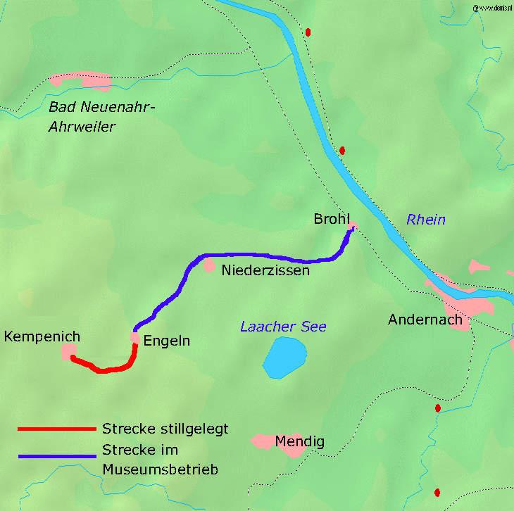 Brohtalbahn - Vulkan-Express - Streckenverlauf