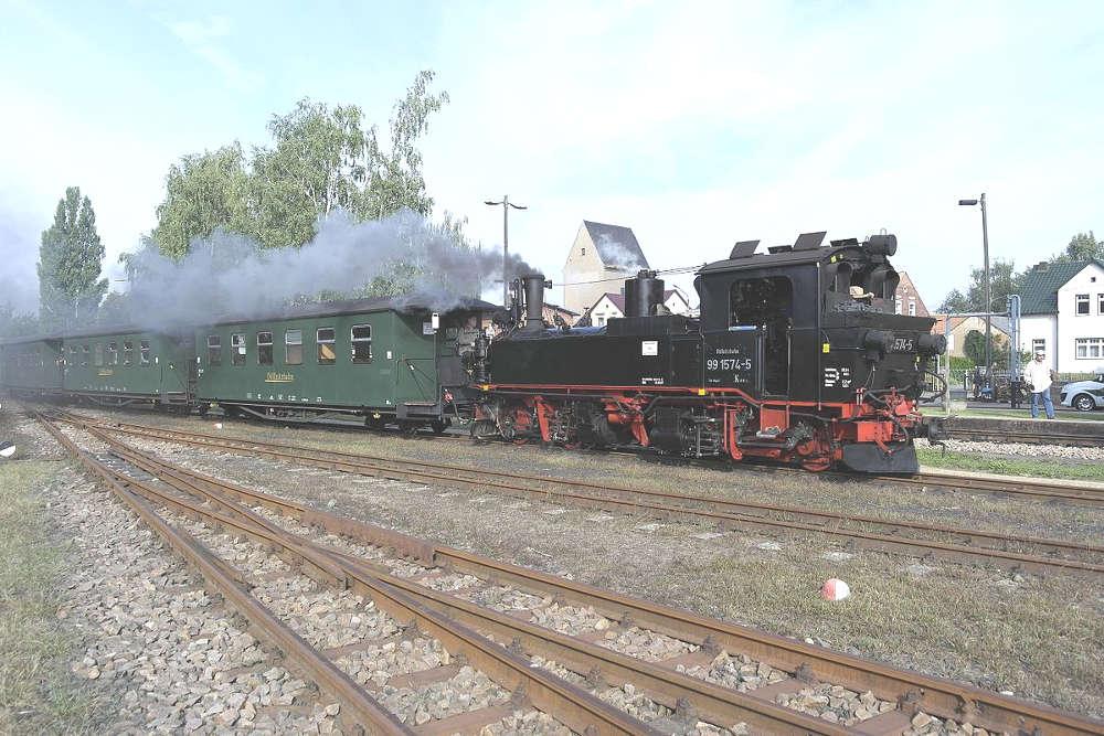 Döllnitzbahn - Wilder Robert - Dampflok in Mügeln