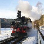 Preßnitztalbahn im Winter