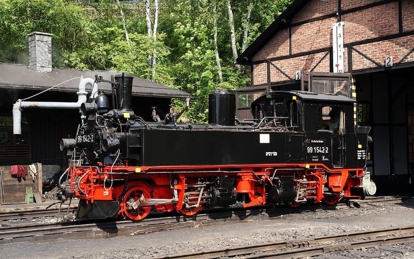 Preßnitztalbahn - sächsische IV K Dampflok in Jöhstadt