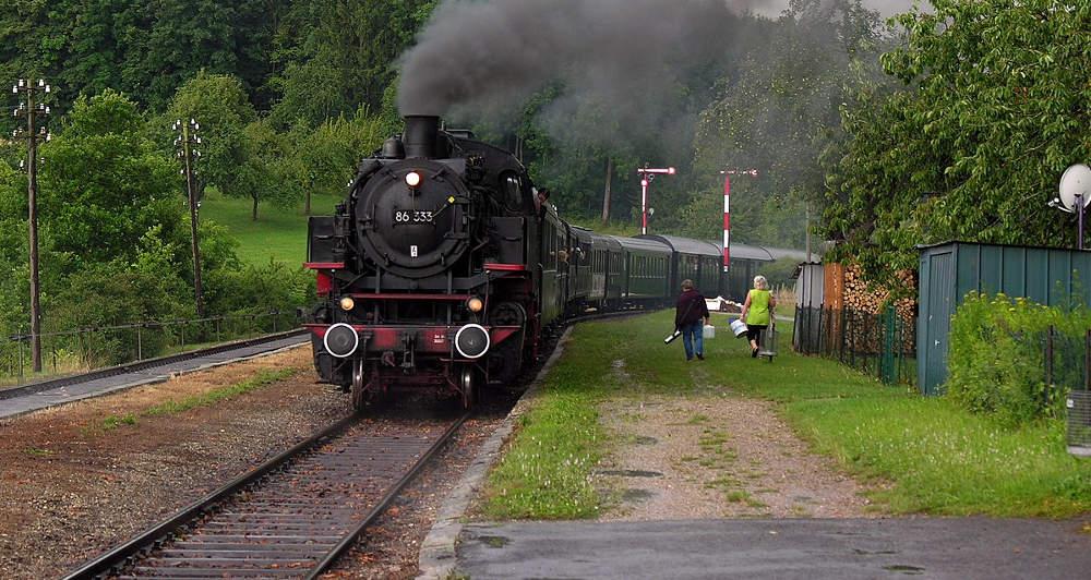 Sauschwänzlebahn - 86 333 auf der Strecke