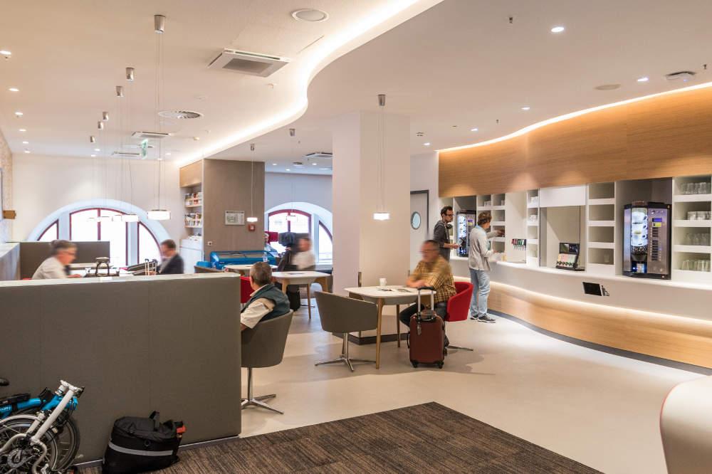 DB Lounge - Ausstattung, Bahnhöfe, Zugang - DB Lounge Nürnberg von innen