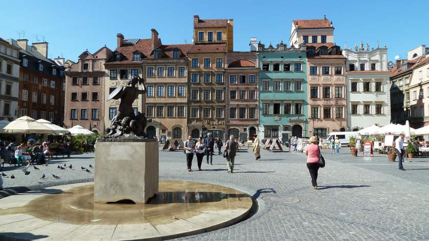 Interrail-Ticket Polen - Warschau Altstadt