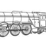 Malvorlage Ausmalbild Dampflok - Flying Scotsman