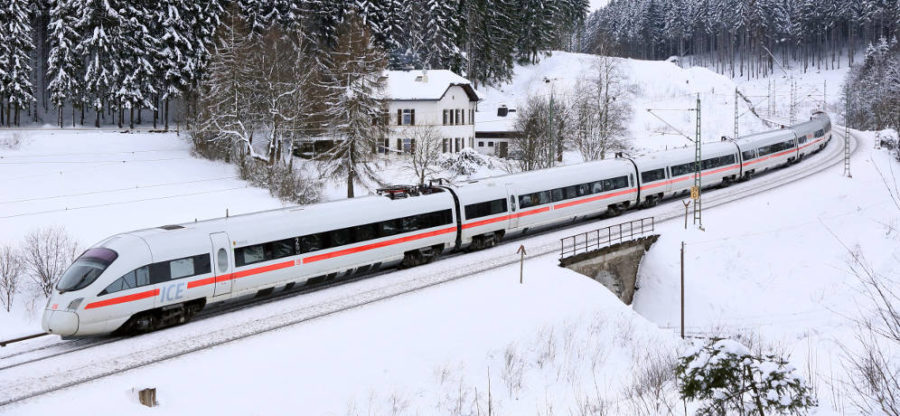 Deutsche Bahn Winter - ICE in Bayern