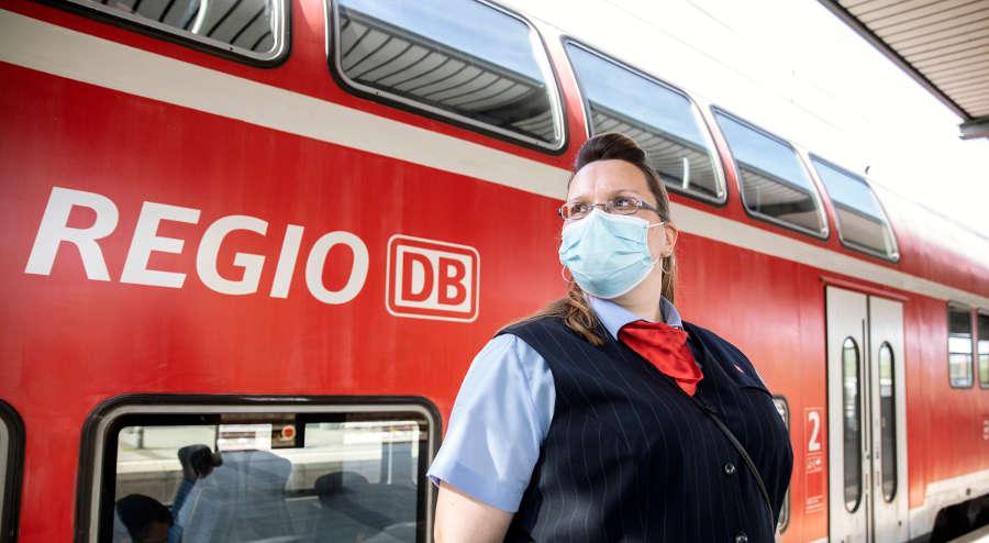 Coronavirus - Deutsche Bahn - Regionalverkehr Maske