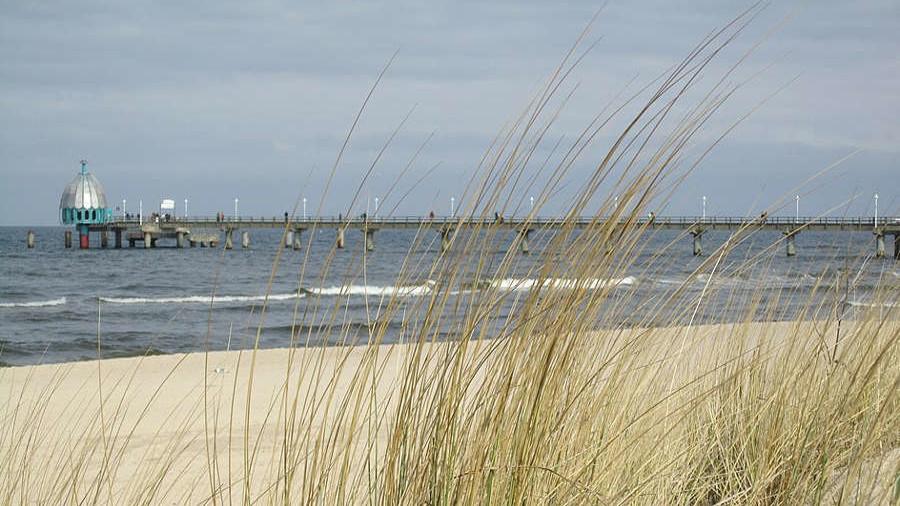 Bahn-Urlaub Usedom - Zinnowitz Strand und Seebrücke