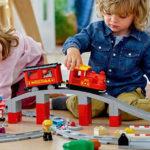 Playmobil Eisenbahn - Set mit Kindern