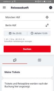 DB Bestpreissuche - DB Navigator - Schritt 1