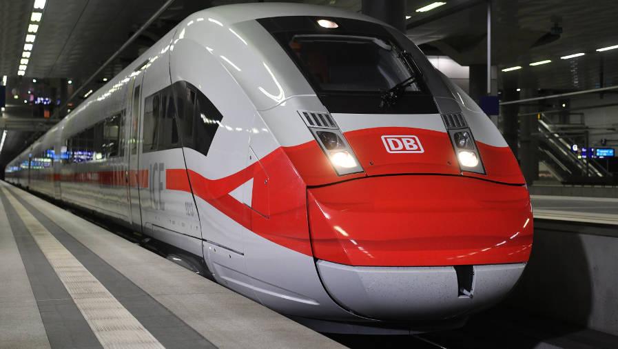 ICE Deutsche Bahn Mund-Nasen-Maske Corona