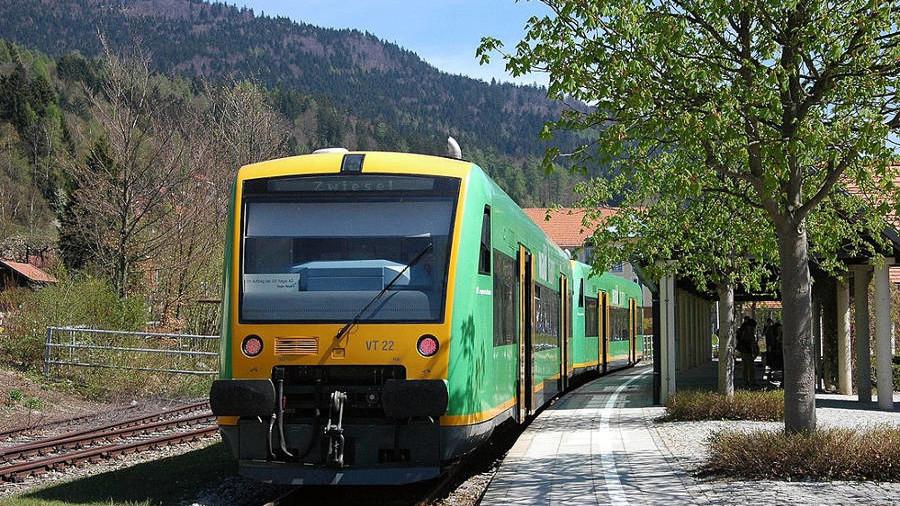 Bayerischer Wald - Waldbahn - Bahnhof Bodenmais