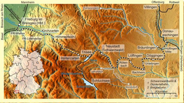 Höllentalbahn - Streckenverlauf