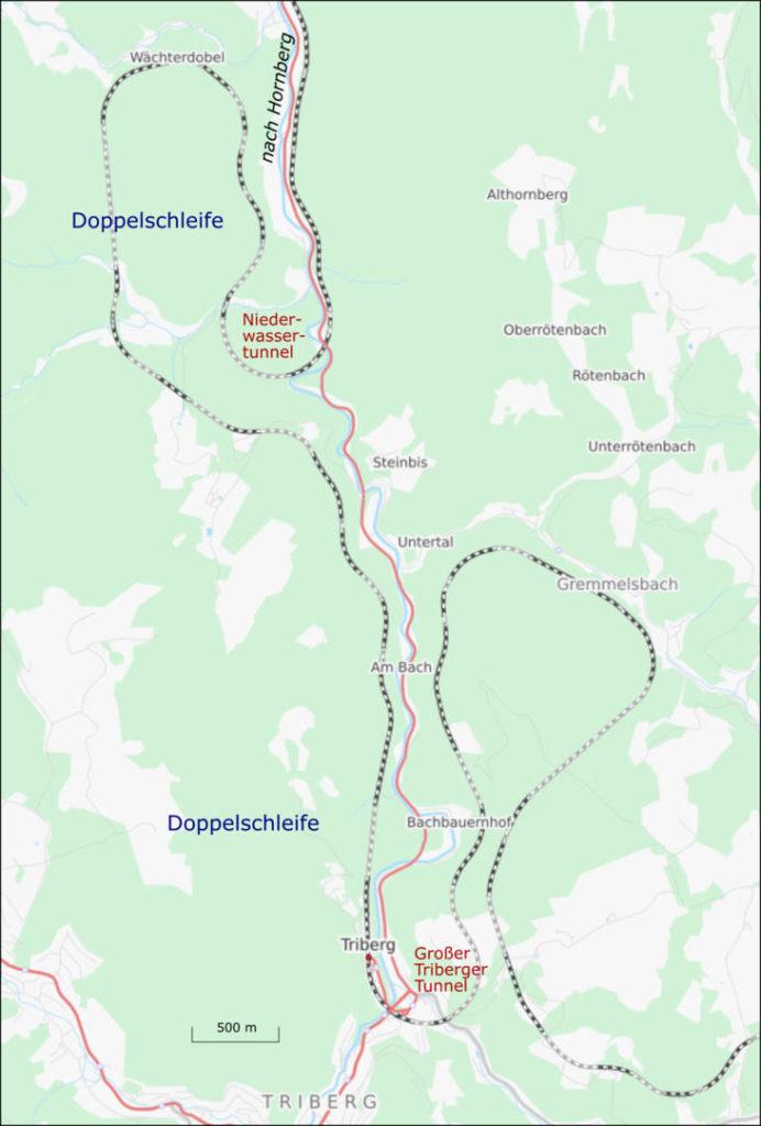 Schwarzwaldbahn - Streckenverlauf