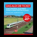 Aldi DB-Bahnticket 2021